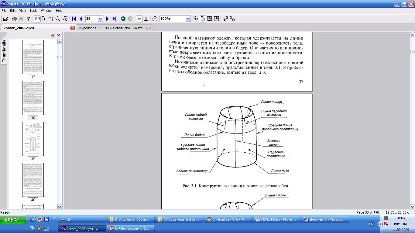 Подготовка к примерке плечевых изделий