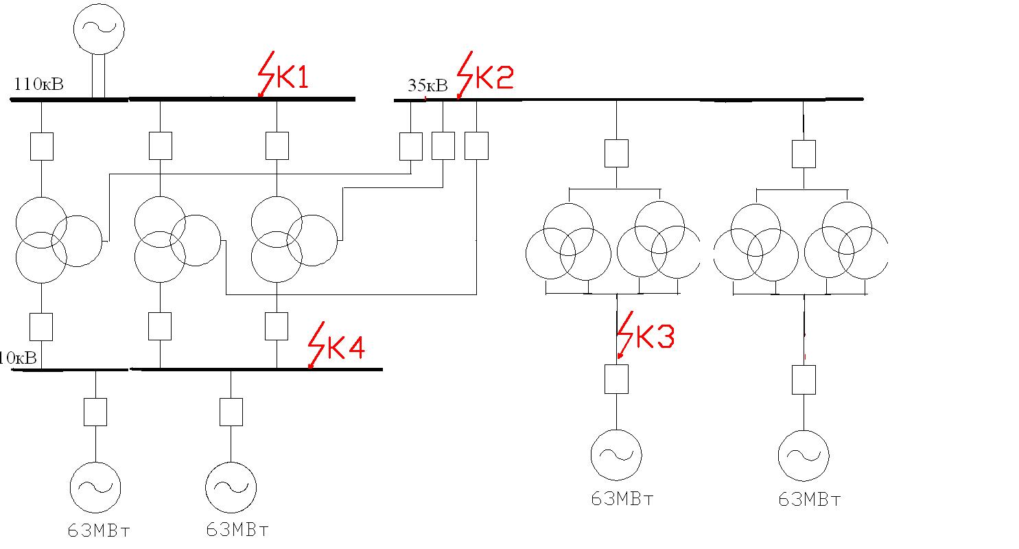 Что такое расчетная схема электрической