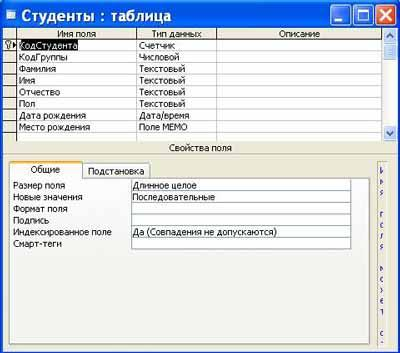 Створення таблиць бази даних реферат 152