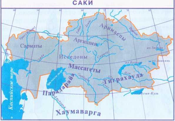 Глава 4. Племенные союзы и ранние государства на ... Сарматы Карта