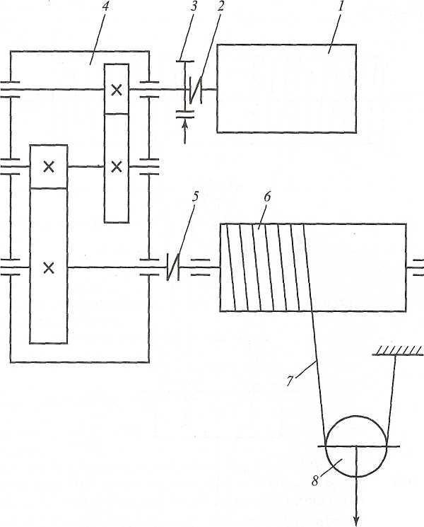 Кинематическая схема механизма подъема груза фото 673
