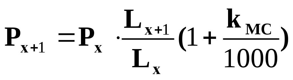 метод экстраполяции по экспоненте следования: