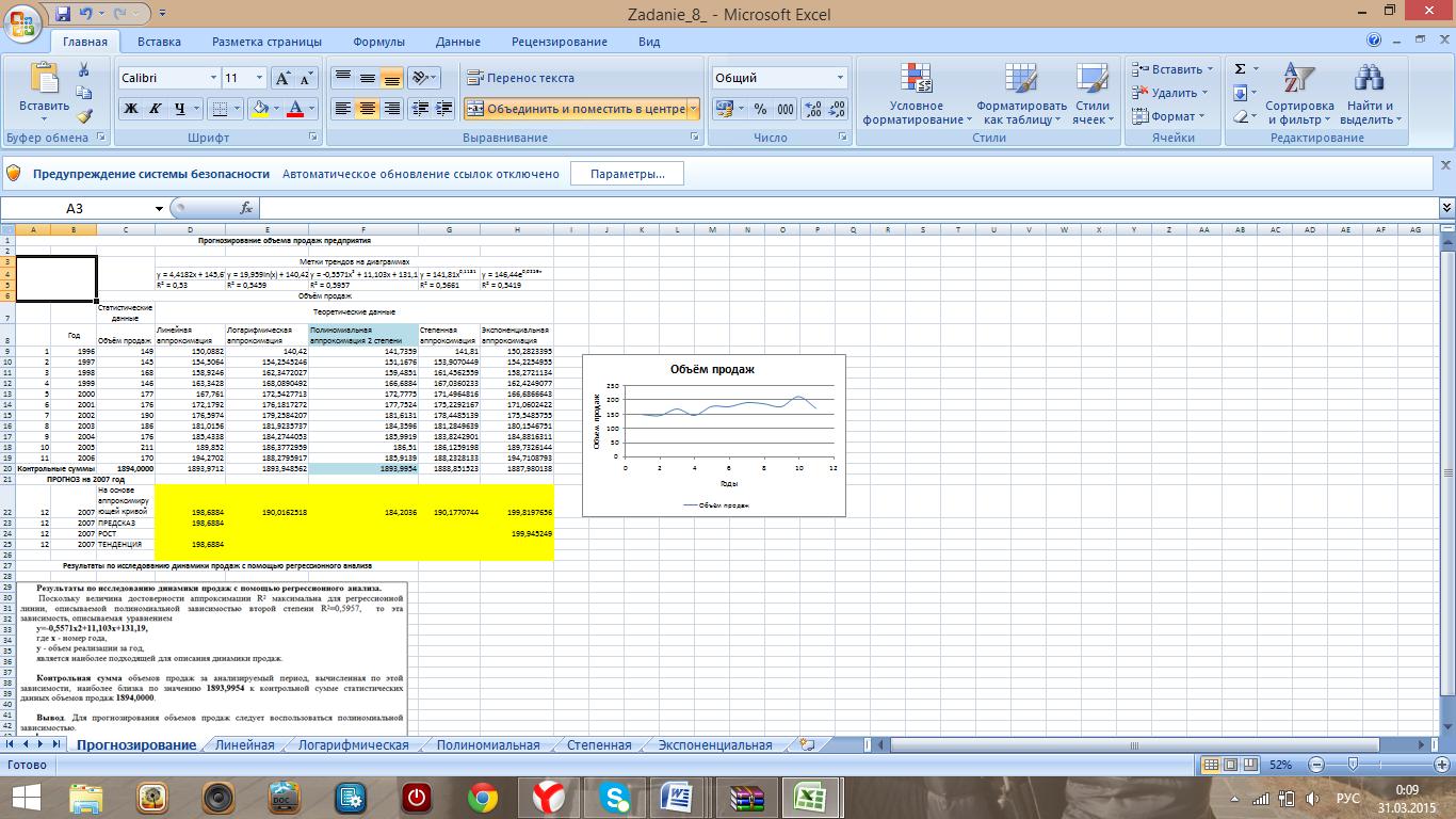 Как в excel сделать сравнительный анализ