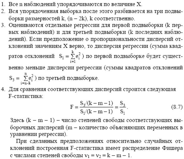 Метод устранения гетероскедастичности