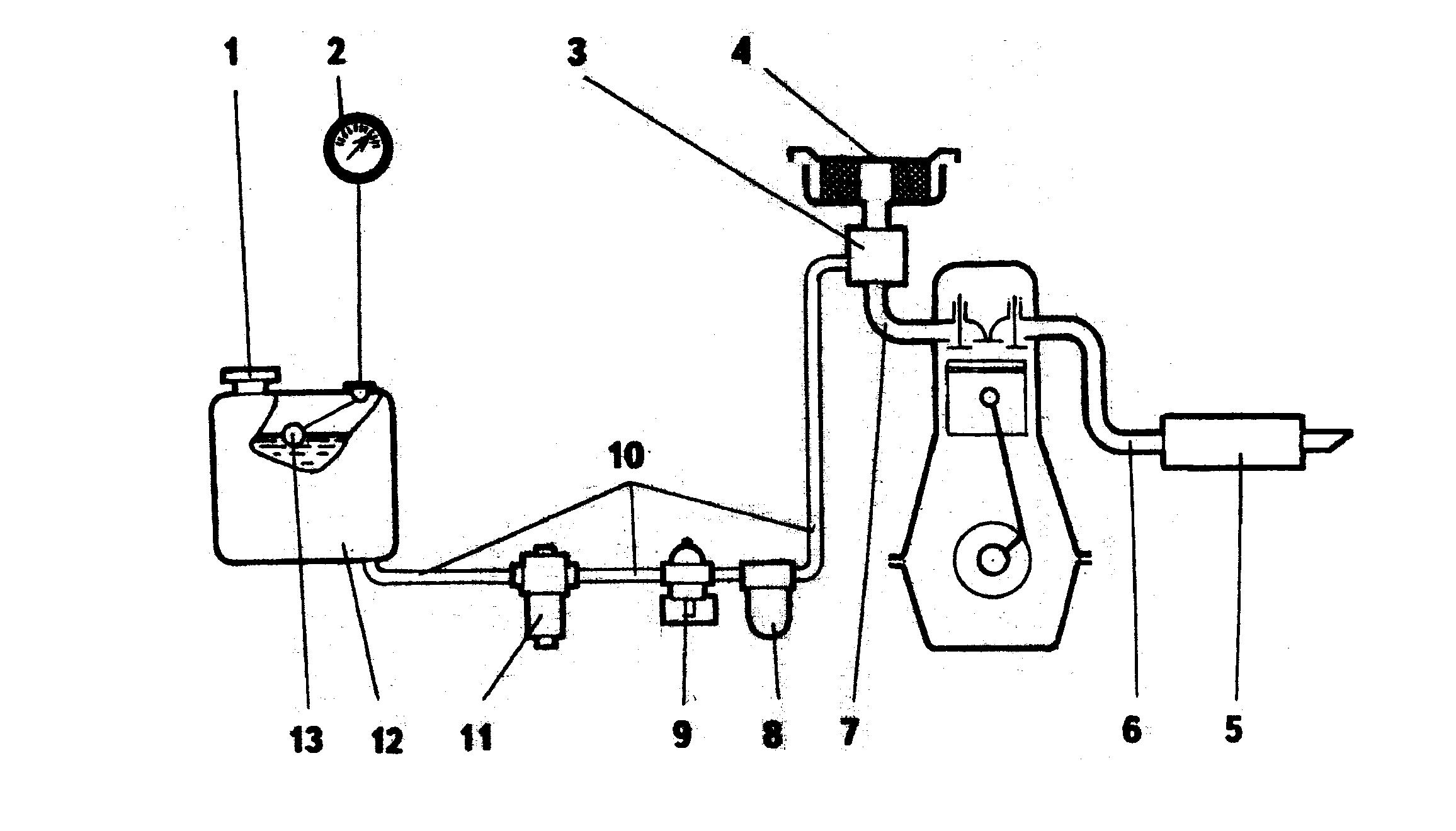 схема пития карбюраторного двигателя