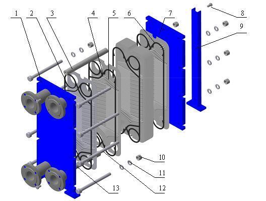 Промежуточный теплообменник Кожухотрубный испаритель Alfa Laval DXD 1200 Улан-Удэ