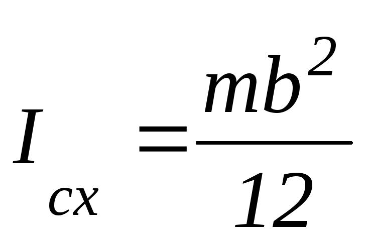 Момент инерции тонкой рамки