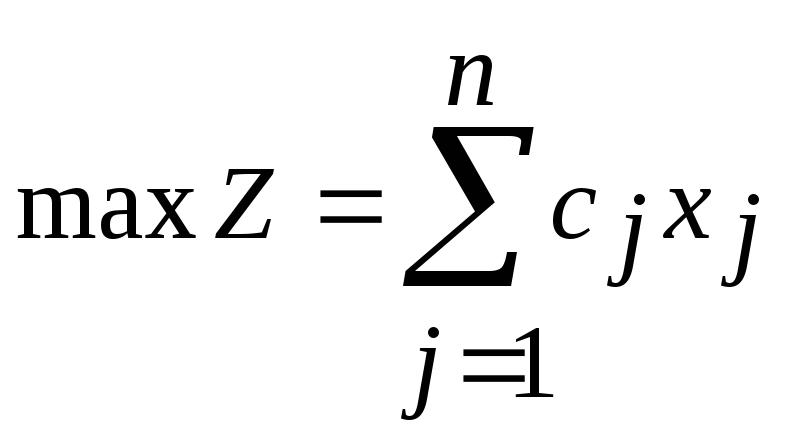 Форма записи задачи линейного программирования