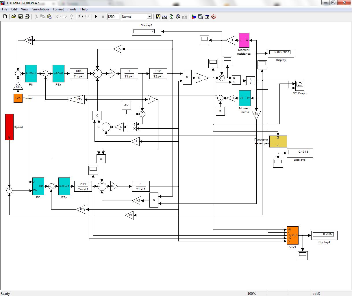 Схема управления асинхронным двигателем в реверсивном режиме