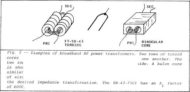 Construction and use of broadband transformers