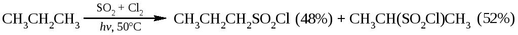 Сульфирование алканов