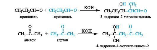 Реакция адьдольной конденсации пентаналя